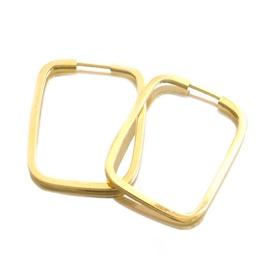 Brinco Fio Quadrado Retangular - Ouro 18k 750 - Helder Joalheiros