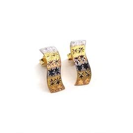 Brinco em Ouro 18k Tricolor - Helder Joalheiros