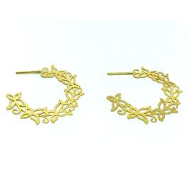 Brinco de Argola em Ouro Borboletas a Laser - Helder Joalheiros