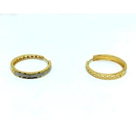 Brinco de Argola em Ouro Diamantada - Helder Joalheiros