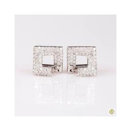 Brinco Ouro Branco 18k com Diamantes - Helder Joalheiros