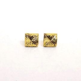Brinco em Ouro 18k Quadrado Diamantado - Helder Joalheiros