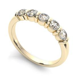 Meia Aliança com Diamantes - Helder Joalheiros