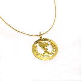 Pingente em Ouro 18k Medalha Farmácia - Helder Joalheiros