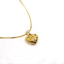 Pingente Coração Vazado Ouro 18k - Helder Joalheiros