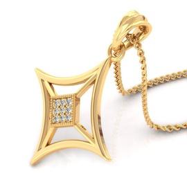Pingente Elegant em Ouro Amarelo Cravejado - Helder Joalheiros