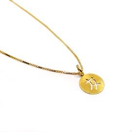 Pingente em Ouro 18k Letra Japonesa - Helder Joalheiros
