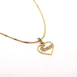 Pingente Coração Amor em Ouro 18k Amarelo e Branco... - Helder Joalheiros