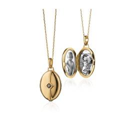 Pingente Relicário em Ouro Amarelo 18k com Diamant... - Helder Joalheiros