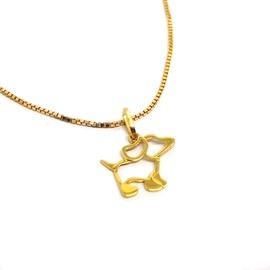 Pingente Cachorrinho Vazado em Ouro 18k - Helder Joalheiros