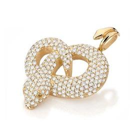 Pingente Cobra Cravejado com Diamantes - Helder Joalheiros