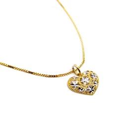 Pingente Ouro 18k Amarelo e Branco Diamantado - Helder Joalheiros