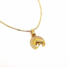 Pingente em Ouro 18 Ferradura com Zircônias - Helder Joalheiros