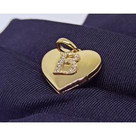 Relicário em Ouro 18k Coração com Gravação de Letr... - Helder Joalheiros