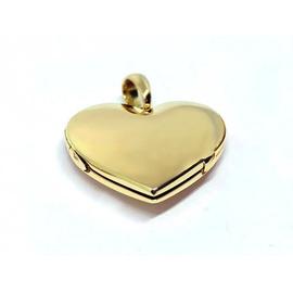 Relicário em Ouro 18k Coração Liso - Helder Joalheiros