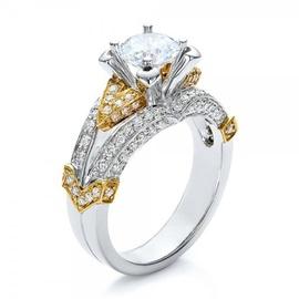Solitário de Noivado com Diamantes - Helder Joalheiros
