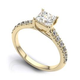 Solitário com Diamantes em Ouro 18k com Diamantes ... - Helder Joalheiros