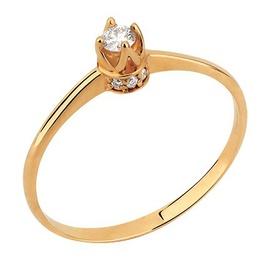 Solitário Coroa com Diamantes - Helder Joalheiros