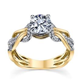 Anel Solitário em Ouro 18k com Diamantes - Helder Joalheiros
