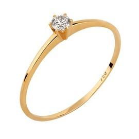 Solitário em Ouro Amarelo 18k Aro Fino com Diamant... - Helder Joalheiros