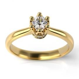 Solitário Ouro 18k Coroa com Diamantes - Helder Joalheiros