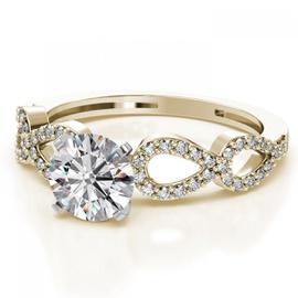 Anel Solitário em Ouro 18k com Diamante de 40 Pont... - Helder Joalheiros