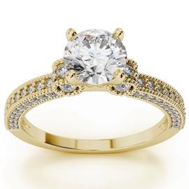 Anel Solitário em Ouro 18k com Diamante de 35 Pont... - Helder Joalheiros