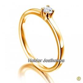 Solitário de Noivado com Diamante de 25 Pontos - Helder Joalheiros