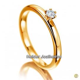 Solitário com Diamante de 15 Pontos - Helder Joalheiros