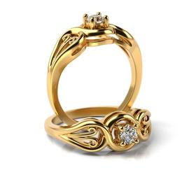Solitário em Ouro 18k Trabalhado com Diamante de 2... - Helder Joalheiros