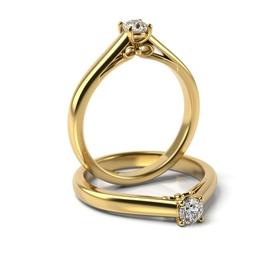 Solitário em Ouro 18k com Diamante de 15 Pontos - Helder Joalheiros