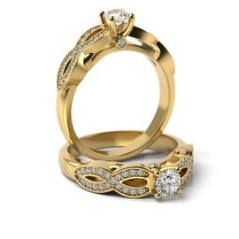 Solitário em Ouro 18k Cravejado com Diamantes - Helder Joalheiros