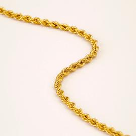 Cordão Torcido em Ouro Amarelo 18k 750 - Helder Joalheiros