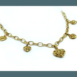 Pulseira em Ouro 18k Corações Vazados - Helder Joalheiros