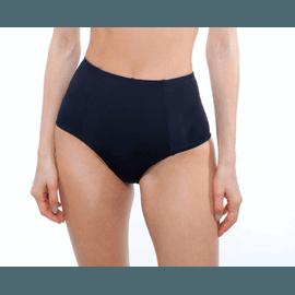 Calcinha Hot Pants Preta Dupla Face Verde Militar