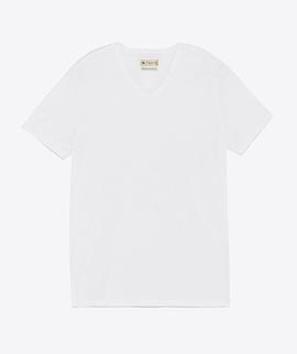 T-shirt Branca Gola V - RIVERS