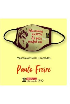 Máscara Poética Paulo Freire Educação Tripla Camad... - Tertúlia Produtos Literários