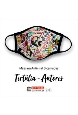 Máscara Poética Tertúlia-Autores Tripla Camada - B... - Tertúlia Produtos Literários