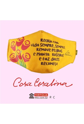 Máscara Poética Cora Coralina - Recria - Tertúlia Produtos Literários