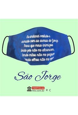 Máscara Poética Sâo Jorge Ogum - Azul - Tertúlia Produtos Literários