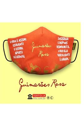 Máscara Poética Guimarães Rosa - Laranja - Tertúlia Produtos Literários
