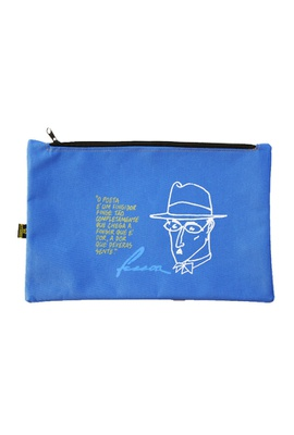 Nécessaire Fernando Pessoa Azul - Tertúlia Produtos Literários