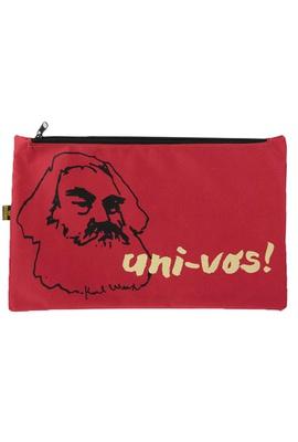 Nécessaire Karl Marx Vermelho - Tertúlia Produtos Literários