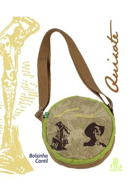 Bolsinha Cantil Dom Quixote - Verde - Tertúlia Produtos Literários
