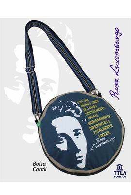 Bolsa Cantil Rosa Luxemburgo Marinho - Tertúlia Produtos Literários