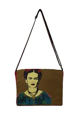 Bolsa Notebook Frida Kahlo Cru - Tertúlia Produtos Literários