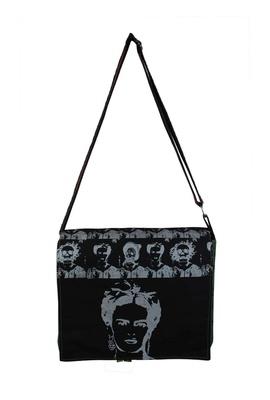 Bolsa Notebook Frida Kahlo Preta - Tertúlia Produtos Literários
