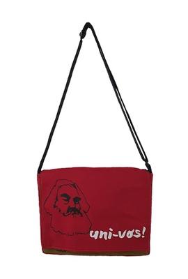 Bolsa Notebook Karl Marx Vermelho - Tertúlia Produtos Literários