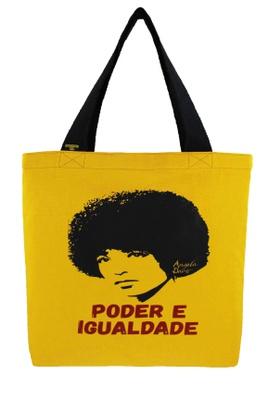 Bolsa Angela Davis G Amarela - Tertúlia Produtos Literários