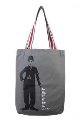 Bolsa Chaplin P Cinza - Tertúlia Produtos Literários